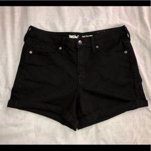 Women's black High-rise jean shorts size 12